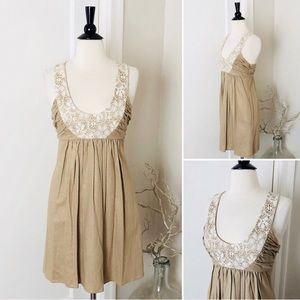 ANTHRO Molly Linen & Lace Sz8